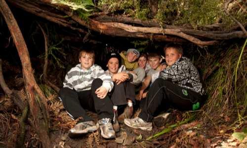 Boys in the Hut
