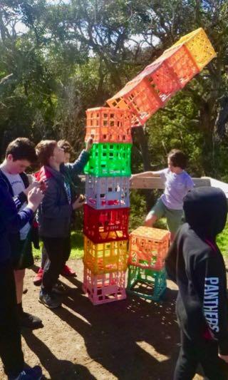 Milk crate tower