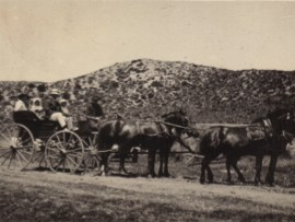 The Bowkers on a picnic in the 1890s