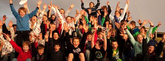 Group fun at Kangaroobie School Camp
