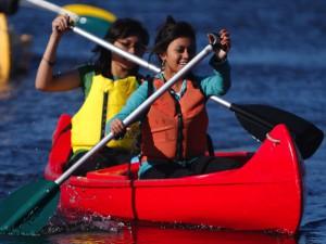 Canoeing on the Gellibrand River at Kangaroobie school camp